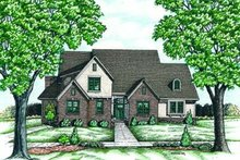 European Exterior - Front Elevation Plan #20-986