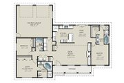 Ranch Style House Plan - 3 Beds 3 Baths 1787 Sq/Ft Plan #427-9 Floor Plan - Main Floor Plan