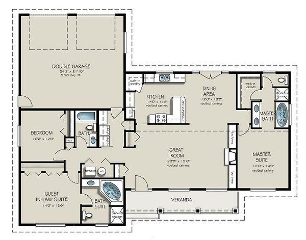 Ranch Floor Plan - Main Floor Plan Plan #427-9