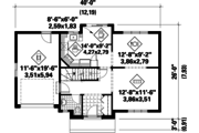 Traditional Style House Plan - 3 Beds 1 Baths 1300 Sq/Ft Plan #25-4788 Floor Plan - Main Floor Plan