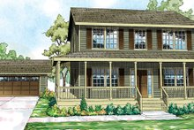 Dream House Plan - Traditional Exterior - Front Elevation Plan #124-852