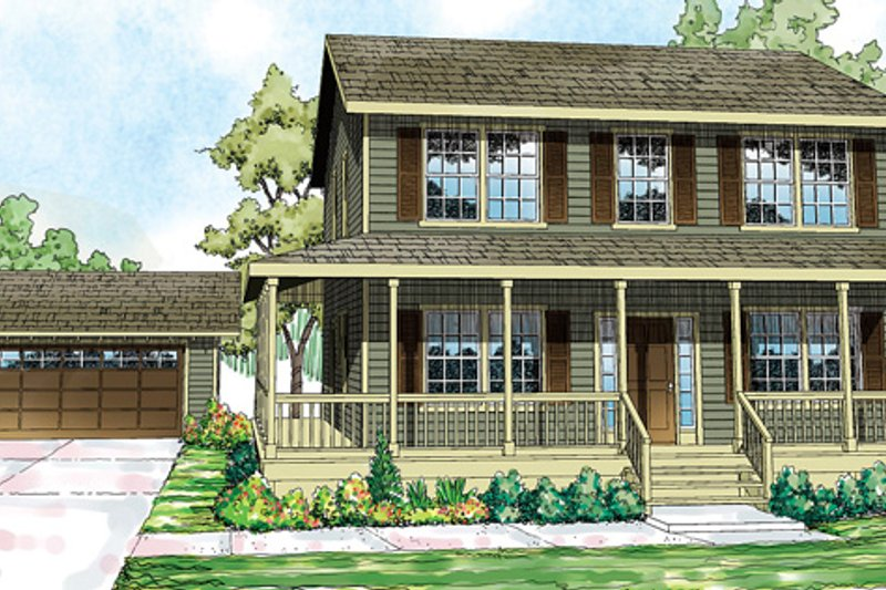 Traditional Exterior - Front Elevation Plan #124-852 - Houseplans.com