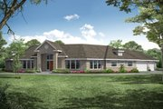 Modern Style House Plan - 4 Beds 2.5 Baths 2878 Sq/Ft Plan #124-281 Exterior - Front Elevation
