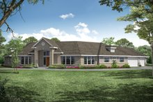 Dream House Plan - Modern Exterior - Front Elevation Plan #124-281