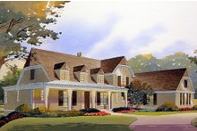 Country Exterior - Front Elevation Plan #901-112