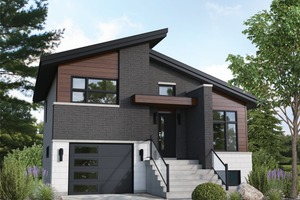 Contemporary Exterior - Front Elevation Plan #25-4894