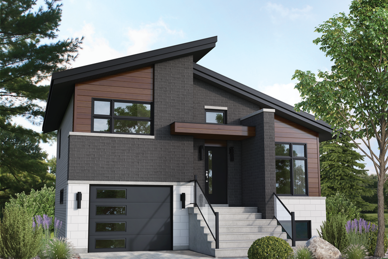 Dream House Plan - Contemporary Exterior - Front Elevation Plan #25-4894