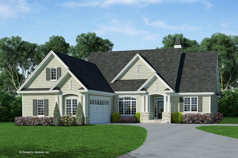 Country Exterior - Front Elevation Plan #929-710