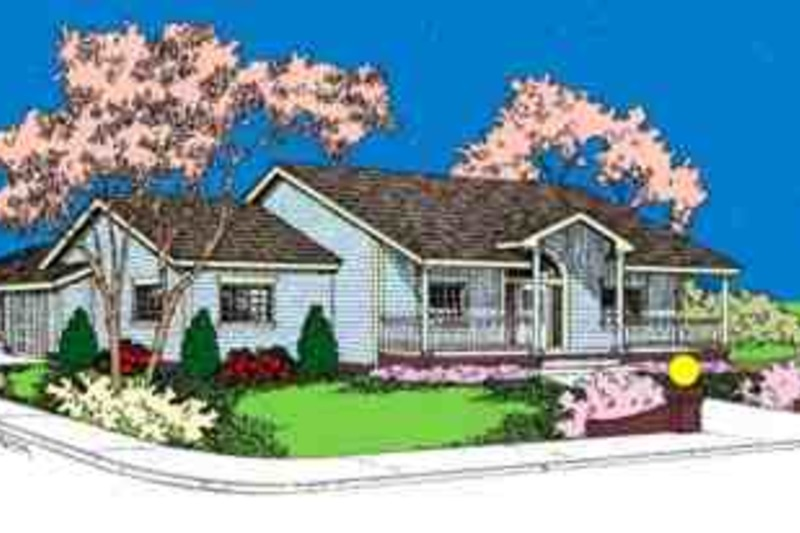 Traditional Exterior - Front Elevation Plan #60-623 - Houseplans.com