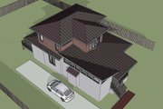 Modern Style House Plan - 3 Beds 2.5 Baths 1686 Sq/Ft Plan #79-302 Exterior - Other Elevation