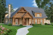 Craftsman Style House Plan - 3 Beds 2 Baths 1292 Sq/Ft Plan #45-374 Exterior - Front Elevation