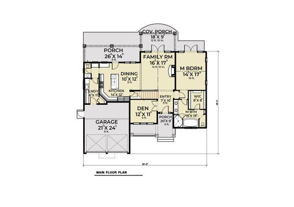 Dream House Plan - Craftsman Floor Plan - Main Floor Plan #1070-58