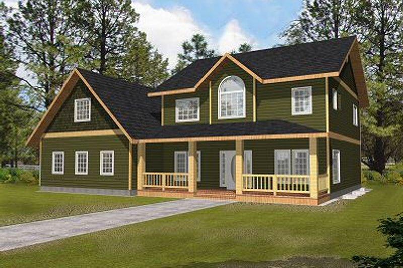 Architectural House Design - Bungalow Exterior - Front Elevation Plan #117-540