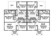 Traditional Style House Plan - 3 Beds 2 Baths 2436 Sq/Ft Plan #21-326 Floor Plan - Main Floor Plan