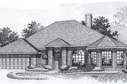 Traditional Style House Plan - 4 Beds 2 Baths 2030 Sq/Ft Plan #310-922 Exterior - Front Elevation
