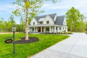 Farmhouse Style House Plan - 4 Beds 4 Baths 3952 Sq/Ft Plan #51-1160 Exterior - Front Elevation