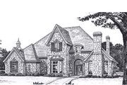 European Style House Plan - 5 Beds 3.5 Baths 4000 Sq/Ft Plan #310-165 Exterior - Front Elevation