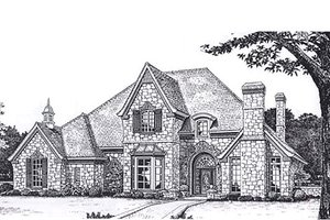 European Exterior - Front Elevation Plan #310-165