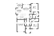 Cottage Style House Plan - 2 Beds 2 Baths 1285 Sq/Ft Plan #48-1029 Floor Plan - Main Floor