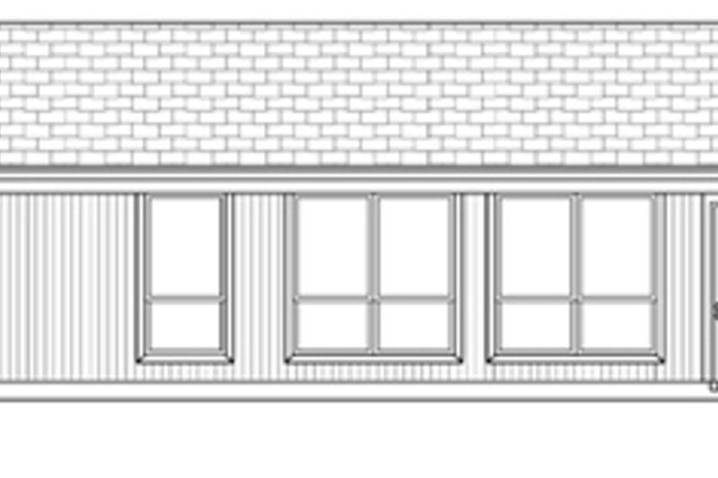 Ranch Exterior - Rear Elevation Plan #84-516 - Houseplans.com