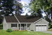 Ranch Style House Plan - 4 Beds 2 Baths 1405 Sq/Ft Plan #116-235 Exterior - Front Elevation