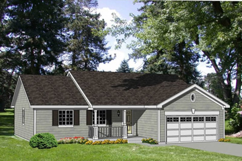 Ranch Style House Plan - 4 Beds 2 Baths 1405 Sq/Ft Plan #116-235