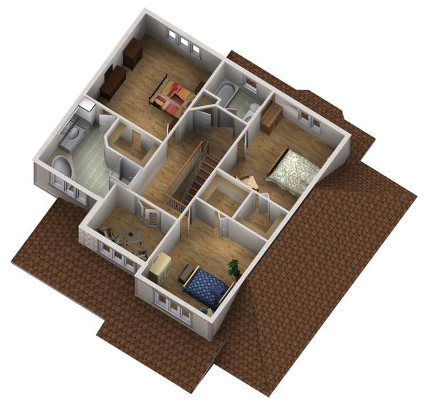 Traditional Floor Plan - Upper Floor Plan #25-4403