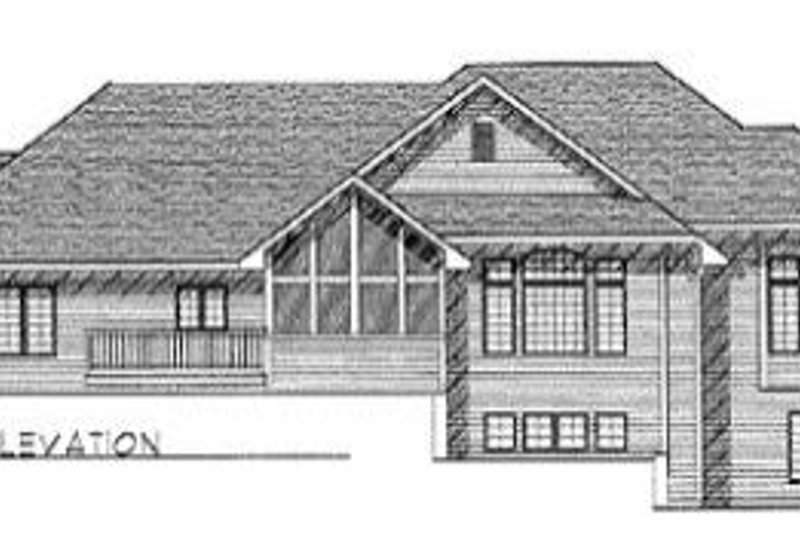 Traditional Exterior - Rear Elevation Plan #70-529 - Houseplans.com
