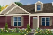 Farmhouse Style House Plan - 3 Beds 2.5 Baths 1626 Sq/Ft Plan #63-136 Exterior - Front Elevation