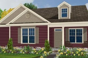 Farmhouse Exterior - Front Elevation Plan #63-136