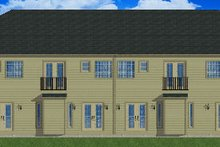 Home Plan - Traditional Exterior - Rear Elevation Plan #126-165
