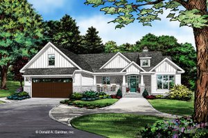Craftsman Exterior - Front Elevation Plan #929-1078