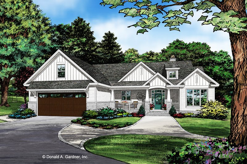 Craftsman Style House Plan - 3 Beds 2 Baths 1747 Sq/Ft Plan #929-1078 Exterior - Front Elevation