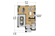 Contemporary Style House Plan - 3 Beds 1 Baths 1823 Sq/Ft Plan #25-4320 Floor Plan - Main Floor Plan