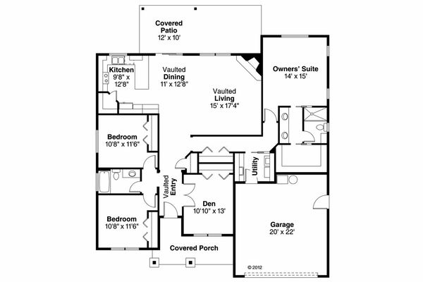 House Plan Design - Ranch Floor Plan - Main Floor Plan #124-902
