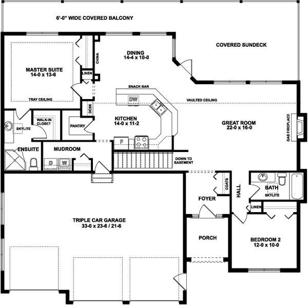 House Plan Design - Traditional Floor Plan - Main Floor Plan #126-237