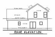 Farmhouse Style House Plan - 3 Beds 2.5 Baths 1600 Sq/Ft Plan #20-2410 Exterior - Rear Elevation