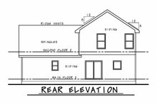 Architectural House Design - Farmhouse Exterior - Rear Elevation Plan #20-2410
