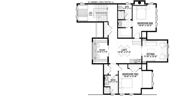 Cottage Floor Plan - Upper Floor Plan Plan #928-319