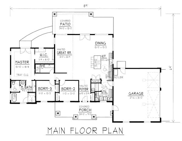 House Design - Craftsman Floor Plan - Main Floor Plan #112-168