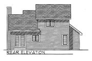 Traditional Style House Plan - 3 Beds 2 Baths 1342 Sq/Ft Plan #70-113 Exterior - Rear Elevation