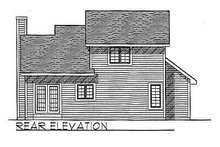 House Plan Design - Traditional Exterior - Rear Elevation Plan #70-113