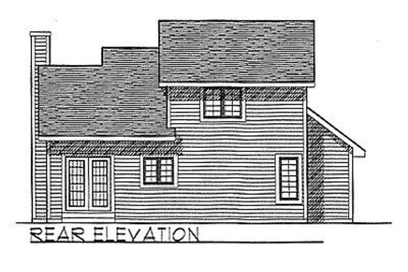 Traditional Exterior - Rear Elevation Plan #70-113 - Houseplans.com