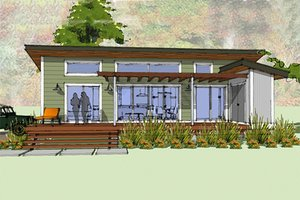 Modern Cottage designed home, front elevation