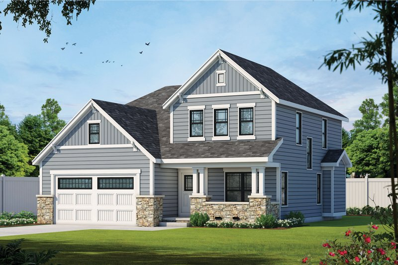 Home Plan - Traditional Exterior - Front Elevation Plan #20-1775