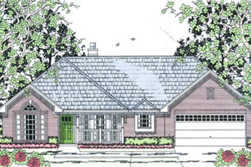 Country Exterior - Front Elevation Plan #42-400