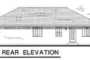 European Style House Plan - 3 Beds 2 Baths 1746 Sq/Ft Plan #18-153 Exterior - Rear Elevation
