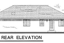 House Blueprint - European Exterior - Rear Elevation Plan #18-153