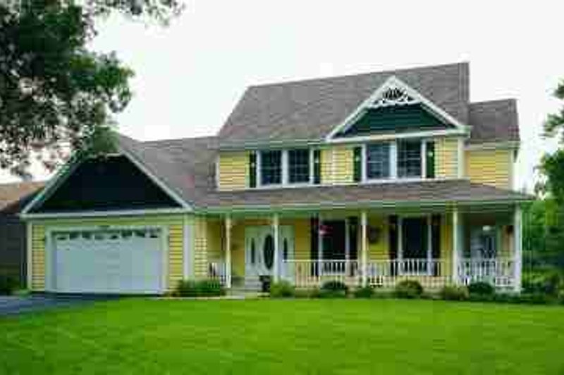 Dream House Plan - Country Exterior - Front Elevation Plan #72-319