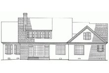Southern Exterior - Rear Elevation Plan #137-176